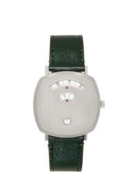 Reloj de cuero verde oscuro de Gucci