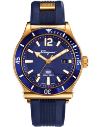 Reloj de goma azul marino