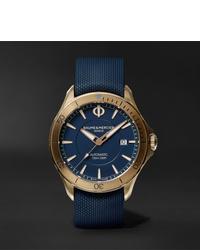Reloj de goma azul marino de Baume & Mercier