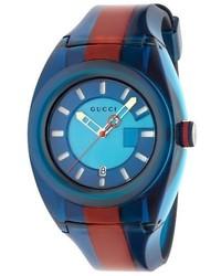 Reloj de goma azul
