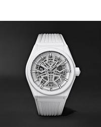 Reloj de goma blanco de Zenith