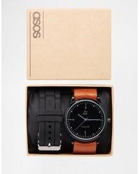 Reloj de goma negro de Asos
