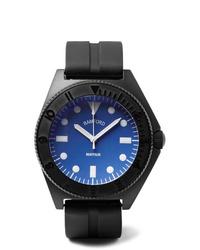 Reloj de goma negro de Bamford Watch Department