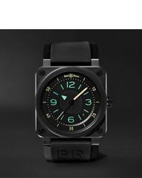 Reloj de goma negro de Bell & Ross