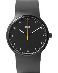 Reloj de goma negro de Braun