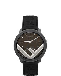 Reloj de goma negro de Fendi