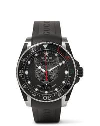 Reloj de goma negro de Gucci
