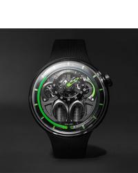 Reloj de goma negro de HYT
