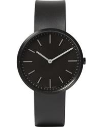 Reloj de goma negro de Uniform Wares