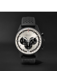 Reloj de goma negro de Zenith