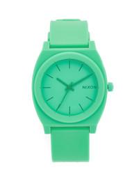 Reloj de goma verde de Nixon