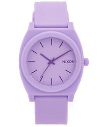 Reloj de goma violeta claro de Nixon