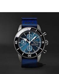 Reloj de lona azul de Breitling
