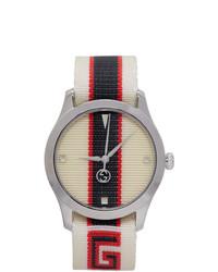 Reloj de lona blanco de Gucci