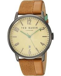Reloj de lona marrón claro