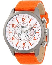 Reloj de lona naranja