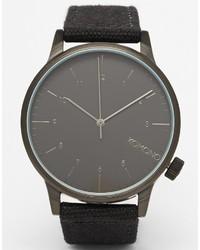 Reloj de lona negro de Komono