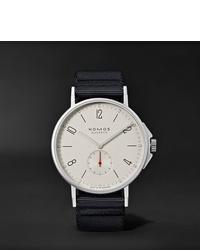 Reloj de lona negro de NOMOS Glashütte
