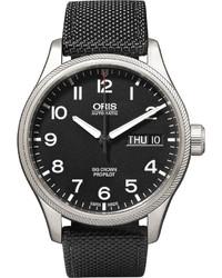 Reloj de lona negro de Oris