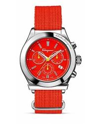 Reloj de lona rojo
