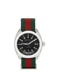 Reloj de lona verde oscuro de Gucci