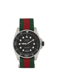 Reloj de rayas horizontales en multicolor de Gucci