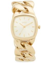 Reloj dorado de DKNY