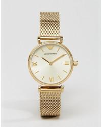 Reloj dorado de Emporio Armani