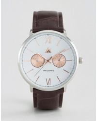 Reloj en marrón oscuro de Asos