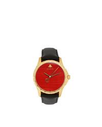 Reloj en rojo y negro de Gucci