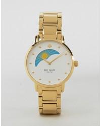 Reloj estampado dorado de Kate Spade