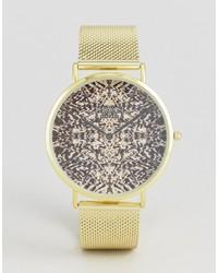 Reloj estampado dorado de Reclaimed Vintage