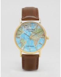 Reloj estampado marrón de Reclaimed Vintage