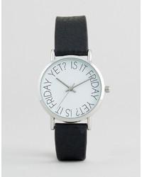 Reloj estampado negro de Asos