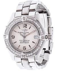 Reloj plateado de Breitling