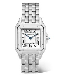 Reloj plateado de Cartier