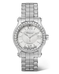 Reloj plateado de Chopard