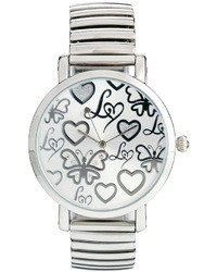 Reloj plateado de Lipsy