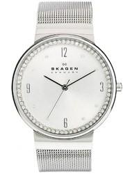 Reloj plateado de Skagen