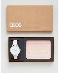 Reloj rosado de Asos