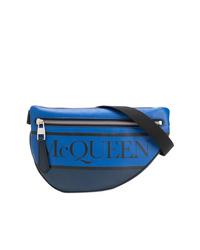 Riñonera azul de Alexander McQueen