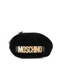 Riñonera de ante negra de Moschino