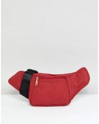 Riñonera de ante roja de Yoki Fashion