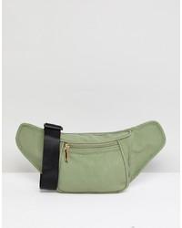 Riñonera de ante verde oliva de Yoki Fashion
