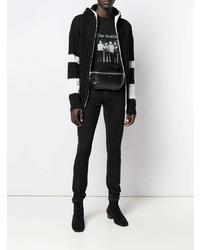 Riñonera de cuero negra de Saint Laurent