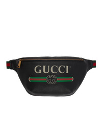 Riñonera de cuero negra de Gucci