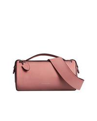 Riñonera de cuero rosada de Burberry