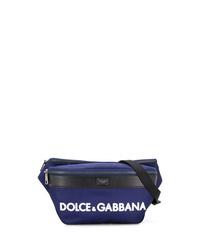 Riñonera de lona azul marino de Dolce & Gabbana