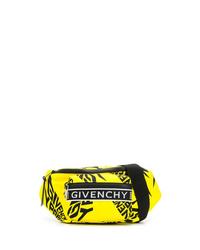 Riñonera de lona en amarillo verdoso de Givenchy
