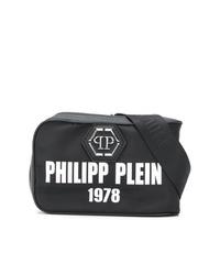 Riñonera de lona en negro y blanco de Philipp Plein
